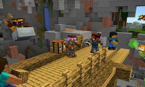 An image from Microsoft's Minecraft video game.